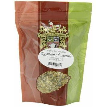 English Tea Store Loose Leaf, Egyptian Camomile Caffeine Free Herbal Tea Pouches, 2 Ounce