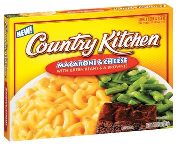 Country Kitchen W/Green Beans & a Brownie Macaroni & Cheese