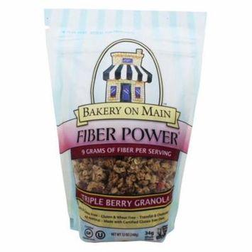 Bakery On Main - Fiber Power Granola Gluten Free Triple Berry - 12 oz(pack of 6)