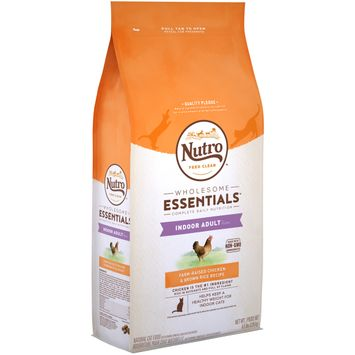 Nutro Feed Clean™ Wholesome Essentials™ Farm-raised Chicken & Brown Rice Recipe Indoor Adult 1+ Years Cat Food