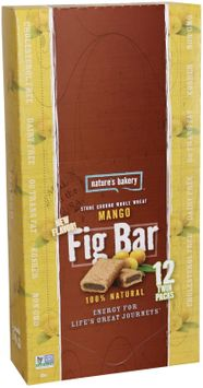 Nature's Bakery Whole Wheat Fig Bar, Mango, 2 Ounce (Pack of 12)