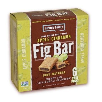 Nature's Bakery Whole Wheat Fig Bar, Apple Cinnamon, 6 Count (Pack of 12)
