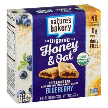 Nature's Bakery Organic Honey And Oat Bar - Blueberry - Case Of 6 - Pack Of 6 - 1.3 Oz. 6/1.3 OZ