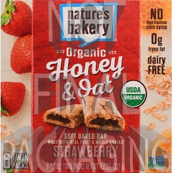 Nature's Bakery Organic Honey And Oat Bar - Strawberry - Case Of 6 - Pack Of 6 - 1.3 Oz. 6/1.3 OZ