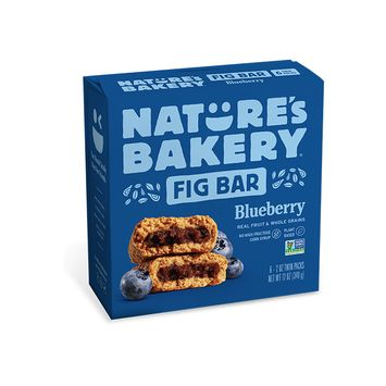 Nature's Bakery Whole Wheat Fig Bar, Blueberry, 6 Count (Pack of 12)