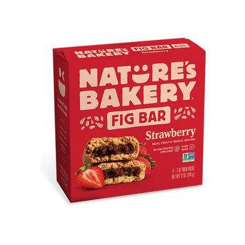 Nature's Bakery Strawberry Fig Bars, 12 oz, (Pack of 6)