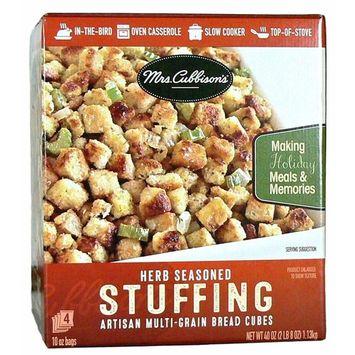Mrs Cubbison's Herb Seasoned Artisan Multi-Grain Bread Cube Stuffing 2.5 lb - 4-10 oz Bags