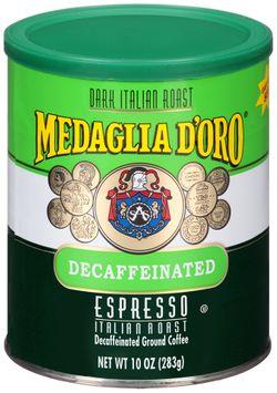 Medaglia d'Oro® Decaffeinated Espresso Dark Italian Roast Ground Coffee