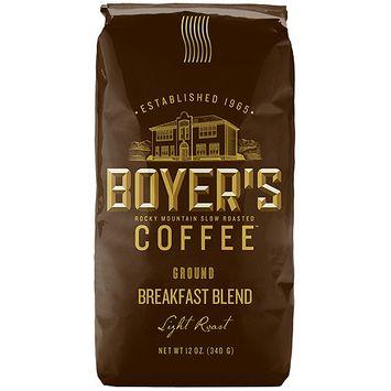 Boyer's Coffee Breakfast Blend Light Roast Ground Coffee, 12 oz