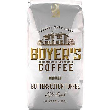 Boyer's Coffee Butterscotch Toffee Light Roast Ground Coffee, 12 oz