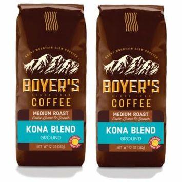 Boyer's Coffee Kona Blend, Ground Coffee, Medium Roast, 2-Pack (1.5lb)