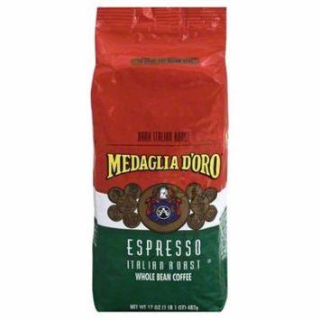 Medaglia d'Oro Italian Roast Espresso Whole Bean Coffee, 17 Ounces