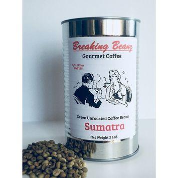Green Coffee Beans Unroasted Sumatran Food Storage 2 LBS