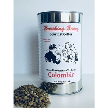 Green Coffee Beans Unroasted Colombian Food Storage 2 LBS