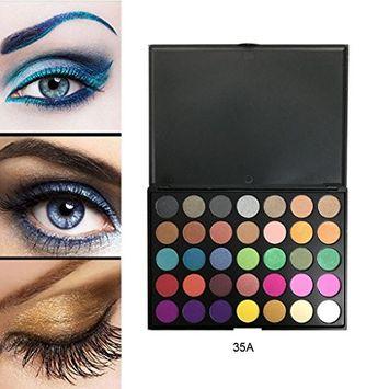 KaiCran 35 Colors Eye Shadow Makeup Cosmetic Shimmer Matte Eyeshadow metallic eyeshadow