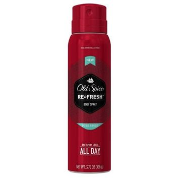 2 Pack - Old Spice Red Zone Pure Sport Men's Body Spray 3.75 Oz Each