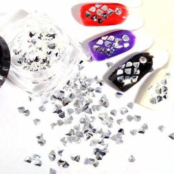 DZT19683D Acrylic Nail Art Tips Stud DIY Decoration Glitter Rhinestones Wheel