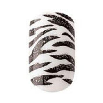 Party Nails, Pre Glued, False Nails, 12 (Zebra Design)