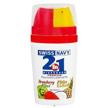 Swiss Navy 2-in-1 Flavored Lubricants, Strawberry Kiwi/Pina Colada [1]