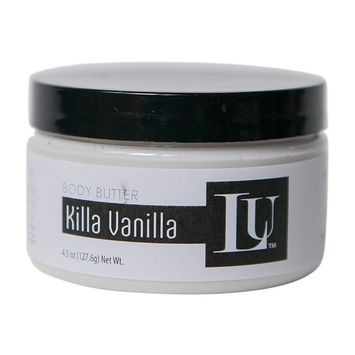 Whipped Shea Body Butter Homemade by Lather Up (Killa Vanilla) - Made in USA, Indiana