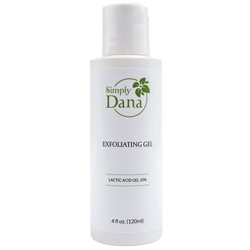 Simply Dana Exfoliating Gel - Pore-Cleansing Exfoliation with 10% Lactic Acid Gel 4 fl oz. (120ml)