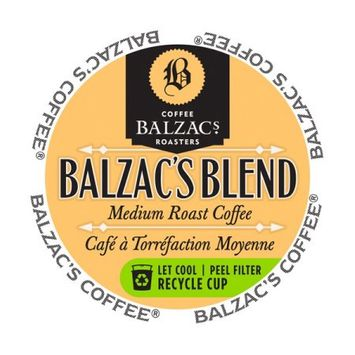 Mother Parker Balzac's Coffee Roasters Balzac's Blend RealCup Coffee Portion Pack for Keurig Brewers