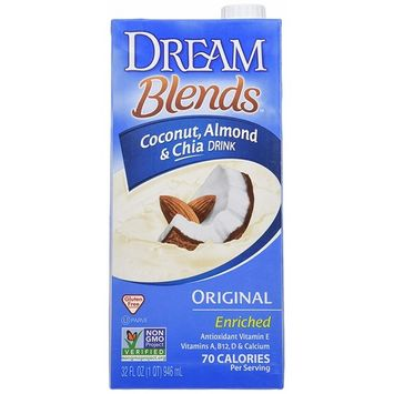 Dream Blends Enriched Original Coconut Almond and Chia Non-Dairy Drink, 32 fl. oz. (Pack of 6)