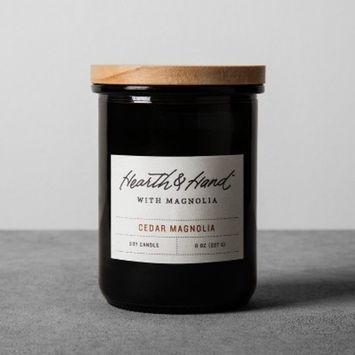 Lidded Jar Container Candle 8oz - Cedar Magnolia - Hearth & Hand™ with Magnolia