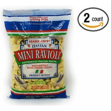 Trader Joe's - Italian Mini Ravioli With Cheese Filling NET WT.16 OZ (1 LB) 454g - 2-PACK