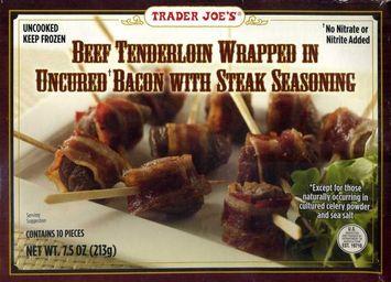 Trader Joe's Beef Tenderloin Wrapped in Bacon with Steak Seasoning