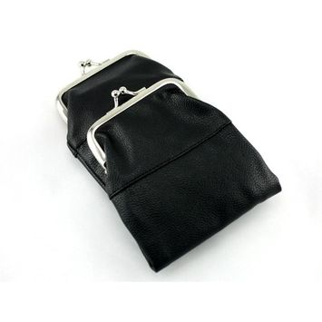 Skyway Gianni Cigarette Pack Holder Case with Coin Purse - Black