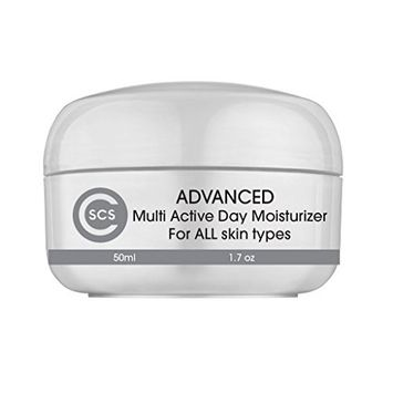 CSCS Advanced Multi Active Day Cream - With 2.5% Retinol, Hyaluronic Acid and Vitamin C & E - All Day Anti Aging Face Moisturizer for Dry Skin - 1.7 oz