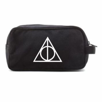 Harry Potter Deathly Hallows Logo Toiletry Bag Cosmetics Travel Kit Makeup Pouch