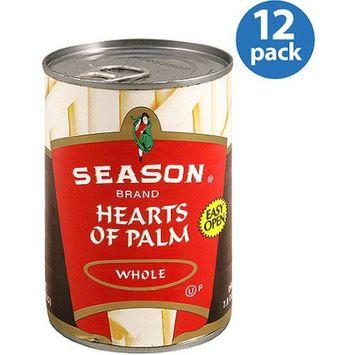 Seasons Season Brand Whole Hearts of Palm, 14.1 oz, (Pack of 12)