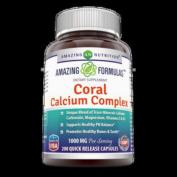 Amazing Formulas Coral Calcium Complex Dietary Supplement - 1000 mg - 200 Quick Release Capsules