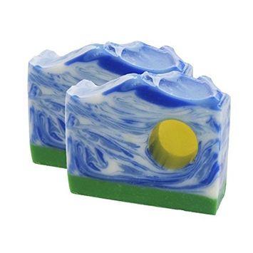 Fresh Line-Dried Linen Handmade Artisan Luxury Gift Soap Bar 2 Pack by Score Soap