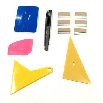 Window Film Tint Tools kit 4 - 6 Razor 1 knife 4 squeegee ( 1 is 3M)
