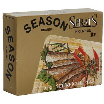 Seasons Season Sprats In Olive Oil, 3.75 oz (Pack of 12)