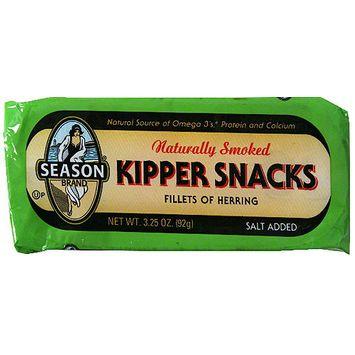 Seasons Season Naturally Smoked Fillets Of Herring Kipper Snacks, 3.25 oz (Pack of 24)