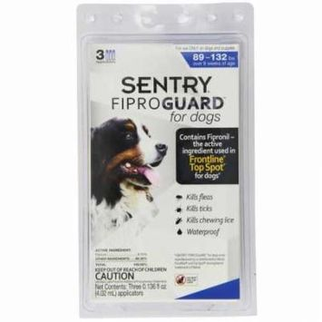 3PACK Fiproguard Flea Tick SqueezeOn for Dogs 89132 lbs