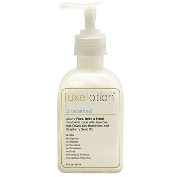 LuxeBeauty, Luxe Lotion, Luxury Face, Body, & Hand Moisturizer, Unscented, 8.5 fl oz (251 ml) [Scent : Unscented]