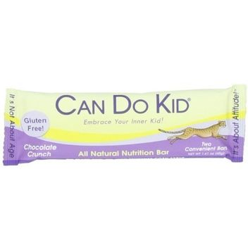 Can Do Kid Nutritional Energy Bar, Chocolate Crunch, 1.41oz (Pack of 15)