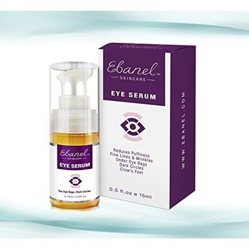 Eye Serum for Puffiness Dark Circles Eye Bags & Wrinkles - The Ultimate Natural Eye Cream to Recapture Youth - 0.5 Oz (15ml)
