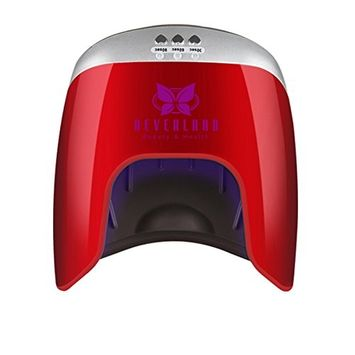 Neverland Beauty Led UV Lamp 48w Nail Dryer for Polish Gel Curing Nail Tools Automatic Hand Sensor both for Hand and Foot Red