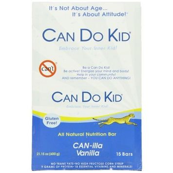 Can Do Kid Nutritional Energy Bar, Canilla Vanilla, 1.41oz (Pack of 15)