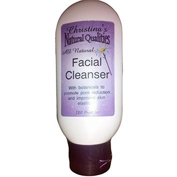 Christina's Natural Qualities All Natural Goat's Milk Aloe Facial Cleanser Acne, Anti-Aging Botanicals