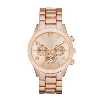 Women's Glitz Dial Bracelet Watch - A New Day™ Rose G