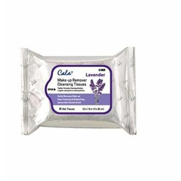 (PACK OF 3) CALA STUDIO Make-up Remover Cleansing Tissues- Lavender (30 Sheets) #67009