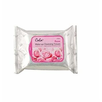 (PACK OF 3) CALA STUDIO Makeup Remover Cleansing Tissue - Rose (30 Sheets) #67005