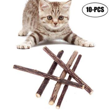 20Pcs Cat Chew Toys Natural Teeth Cleaning Organic Catnip Toys Cat Sticks Treat Cat Toys